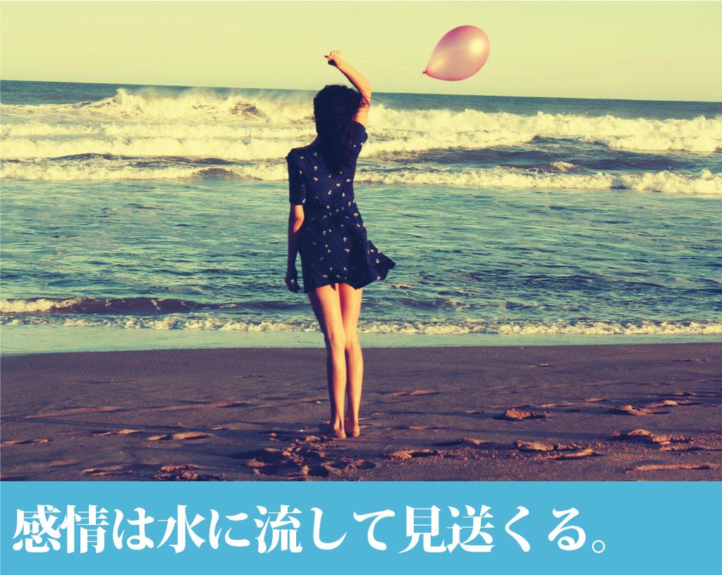 感情は一瞬のもの、水に流して見送ってあげる